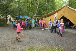 Singing at Camp Claret