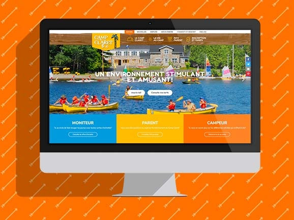 A new web site for Camp Claret